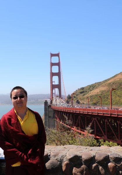 Christina and HHDYR at Golden Gate BRidge