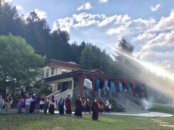 DYR Arrival at Rigdzin Ling Summer 2018