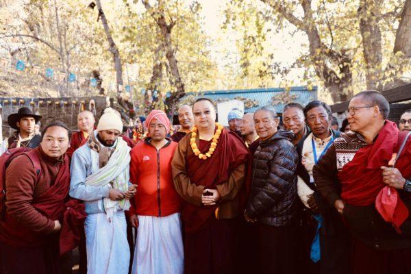 With sadhus at Muktinath