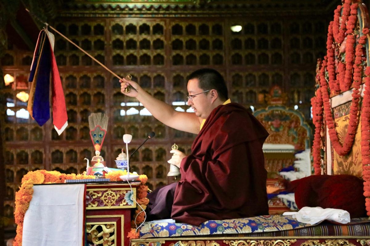 HH Dudjom Rinpoche Giving BlessingJPG